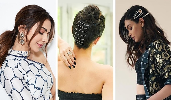 The clear winners are hair accessories! Bollywood celebrity hairstyles this week
