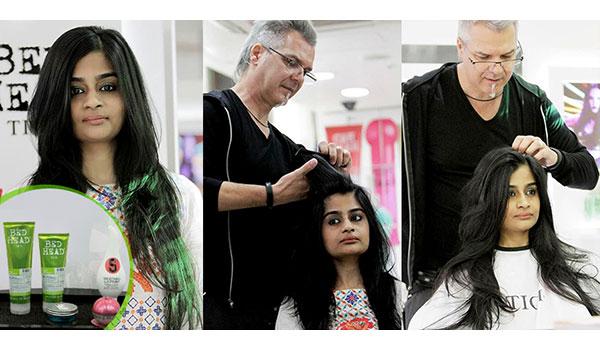 TIGI CREATIVE DIRECTOR RALF BOSS GIVES OUR FASHION EDITOR A HAIR MAKEOVER