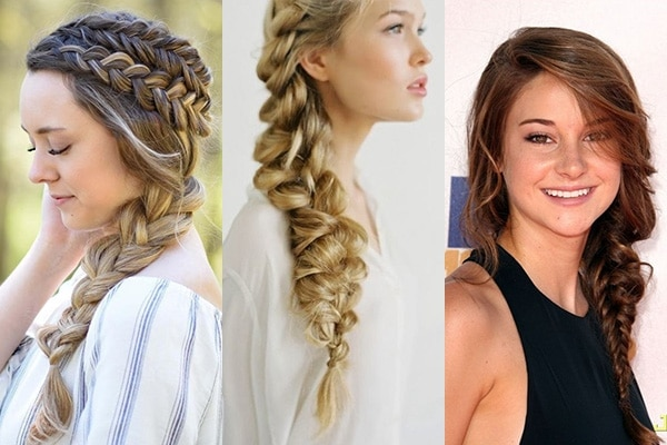 Milkmaid side braid