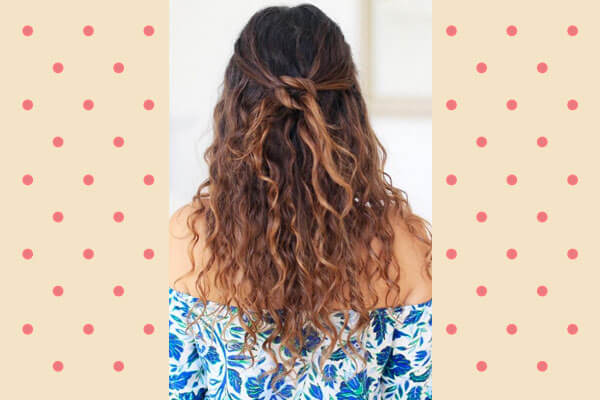 Half Up Half Down Hairstyle for Curly Hair