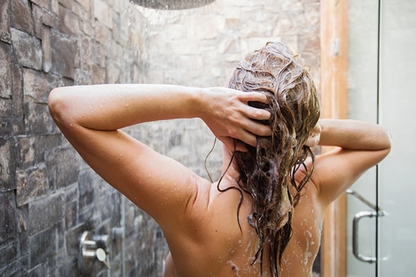 Lather only at the scalp