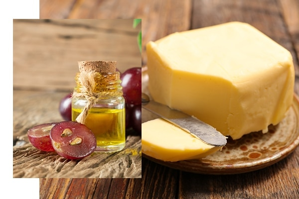 Swap butter or oil for grape seed oil