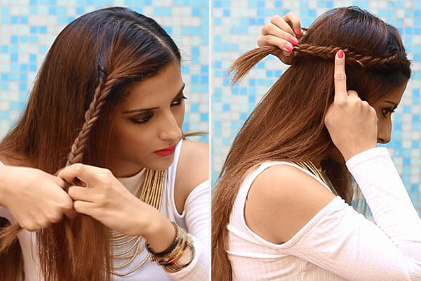 heatless braid hairstyle