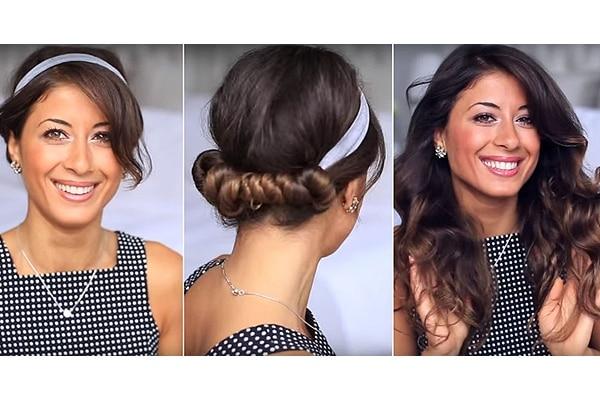 Hairband curls