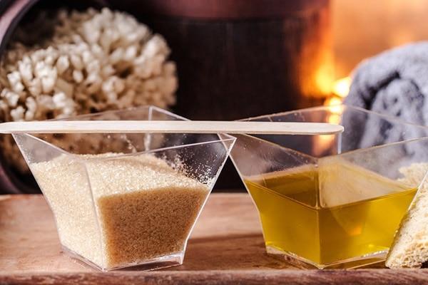 Brown sugar + Olive oil
