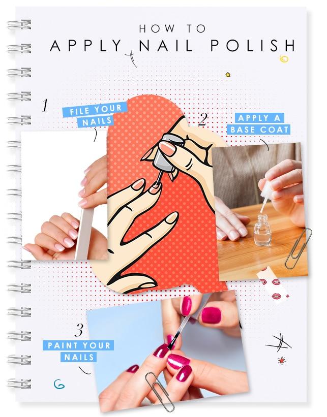 how to apply nail polish center