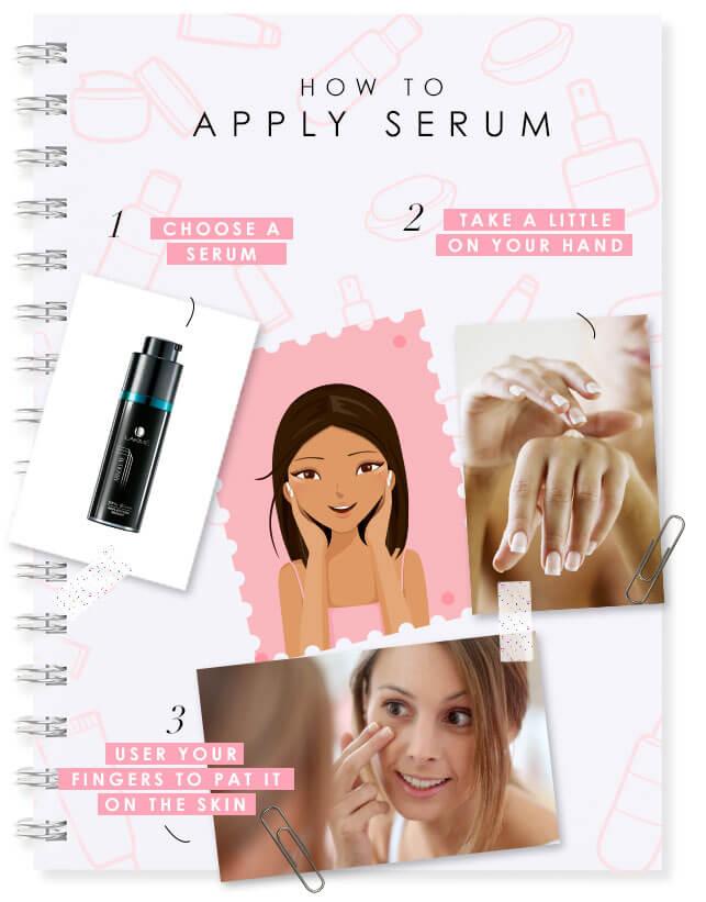 how to apply serum