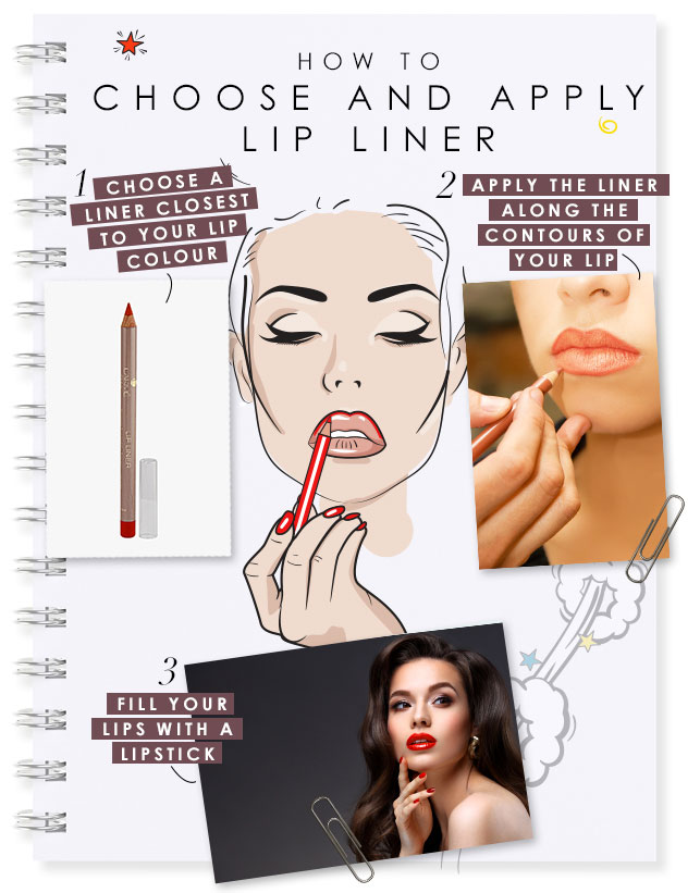 how to choose and apply lip liner