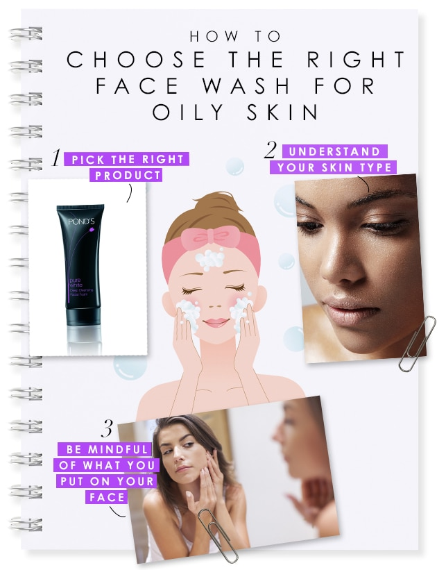 how to choose right face wash for oily skin center img