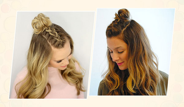 How to do a Mohawk braid top knot hairstyle