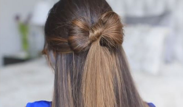 HOW TO DO THE HALF-TIED BOW HAIRDO