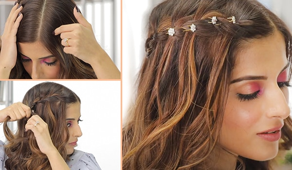 Easy waterfall braid you can do at home
