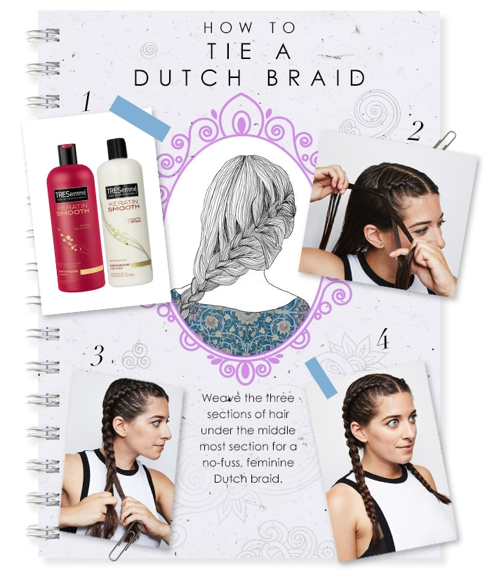 how to make a dutch braid center image