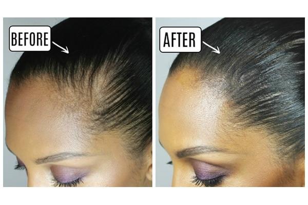 Dark hair spray
