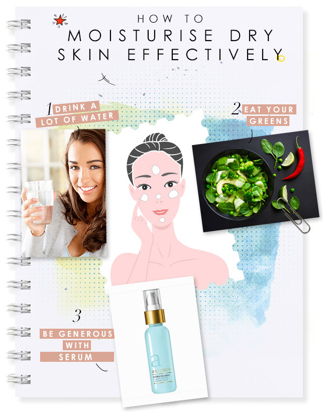 how to moisturise dry skin effectively