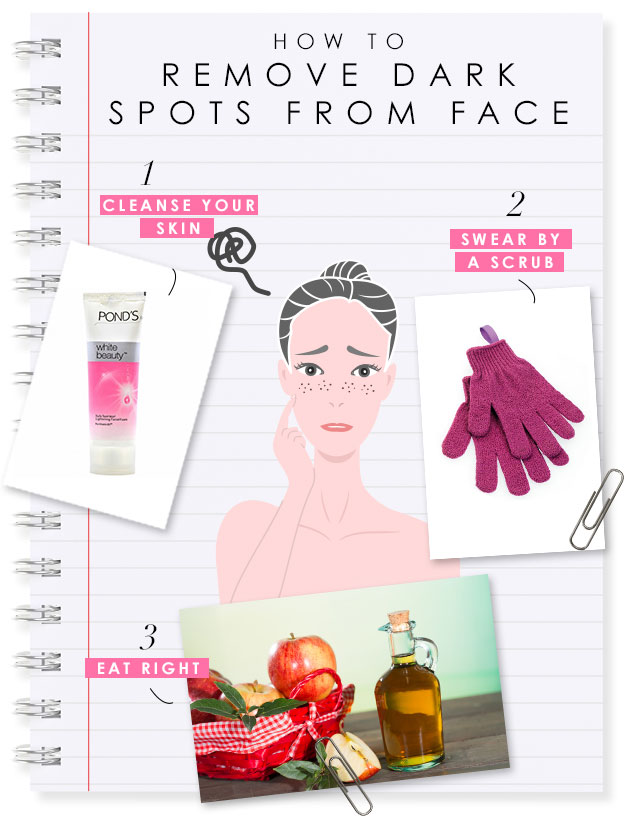 how to remove dark spots from face