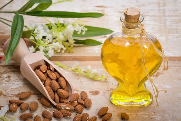 Almond oil for remove stretch marks