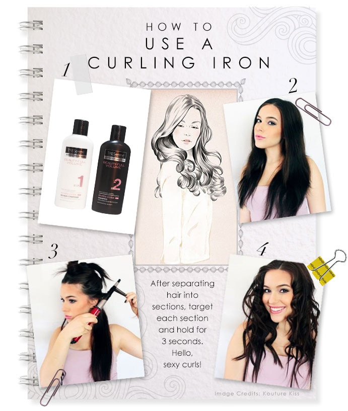 how to use a curling iron center image
