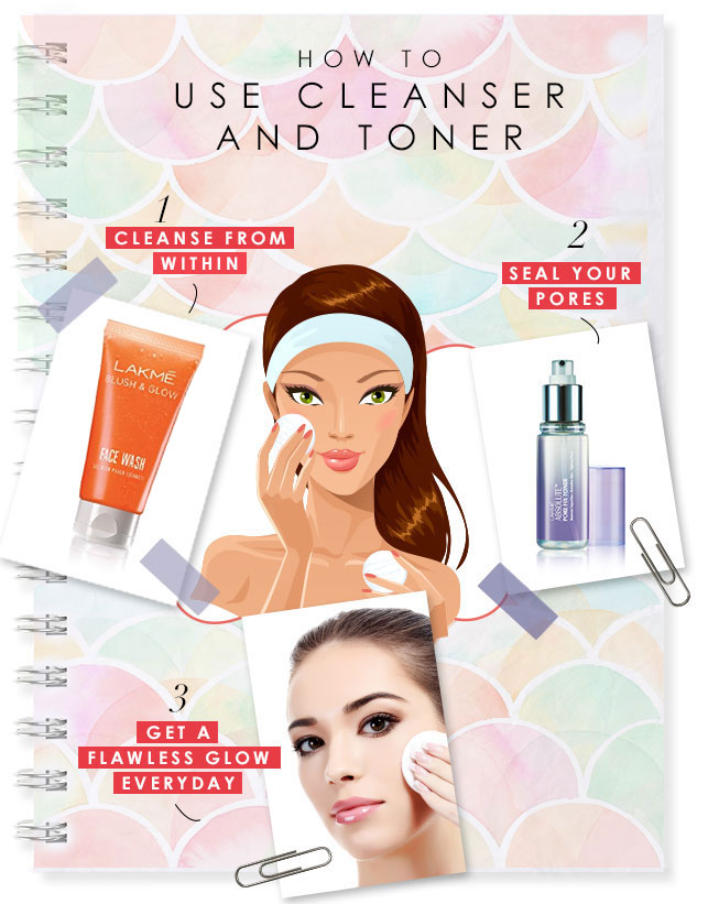 how to use cleanser and toner