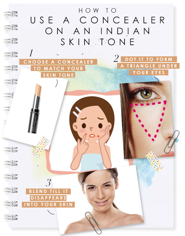 how to use concealer on indian skin tone center image