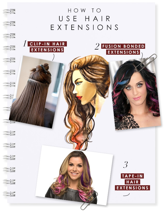 how to use hair extensions img