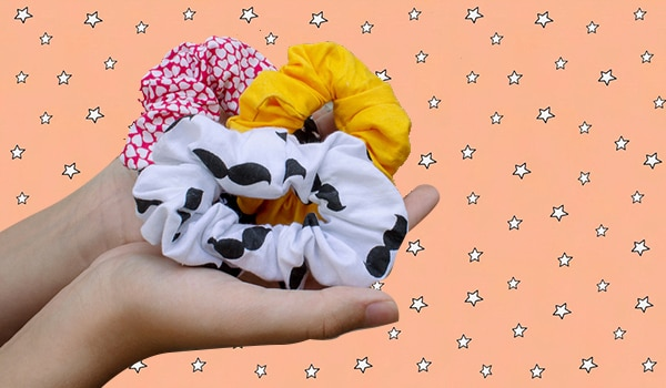 Hair scrunchies need to be washed every day too. Here's how to do it