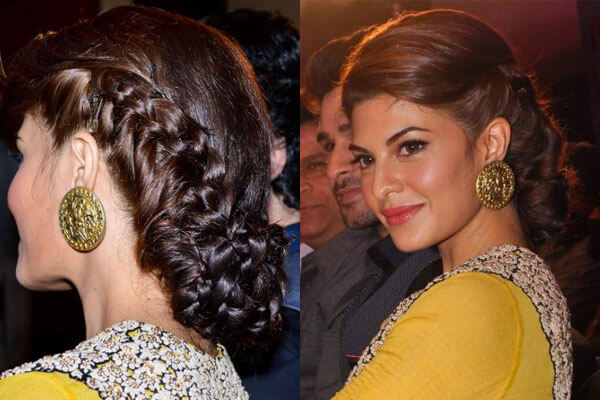 jacqueline fernandes with double braid hairstyle inspo