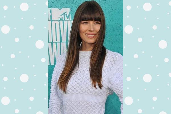 Jessica Biel in Poker Straight Hairstyle