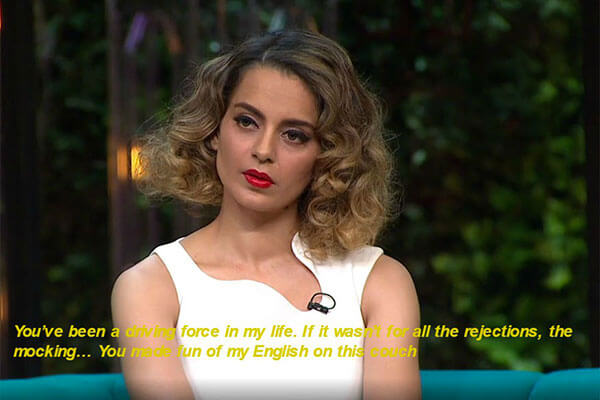 "1. Kangana's ""Koffee With Karan"" outburst was a real stinger"