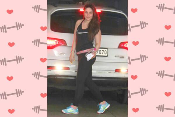 kareena kapoor khan in nike vest with legging