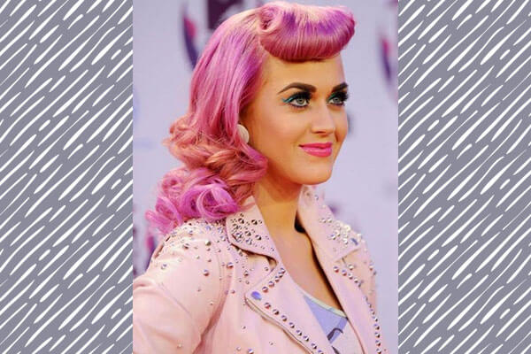 katy perry in vintage hairstyle on red carpet