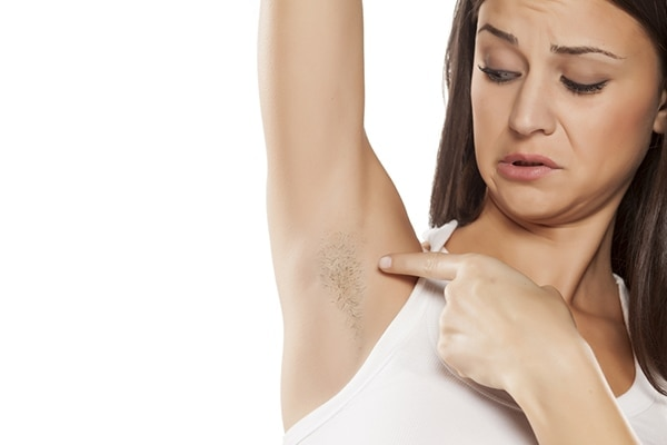 Get your underarms waxed regularly