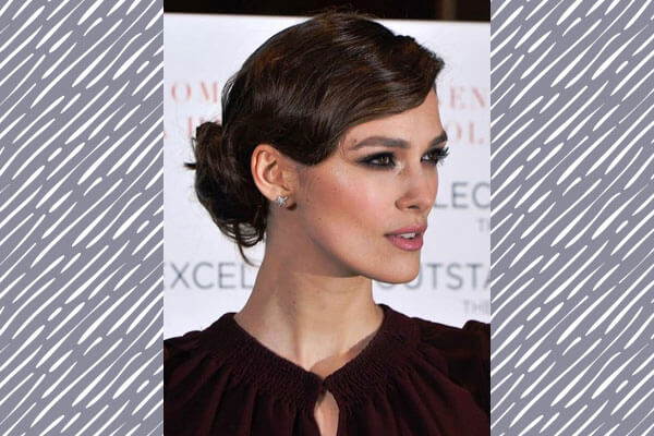 keira knightley in vintage hairstyle on red carpet