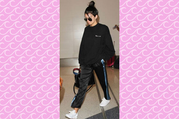 kendall jenner tracks jumper look