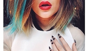 Kylie Jenner's nail game is all things experimental. Take a look!
