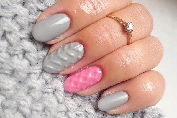 latest nail art sweater nails 600x400