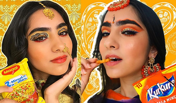 What's hot: This Instagrammer turns your favourite snacks into stunning makeup looks