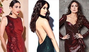 The Kapoor sisters school you on what makeup to wear on heavily, sequinned gowns