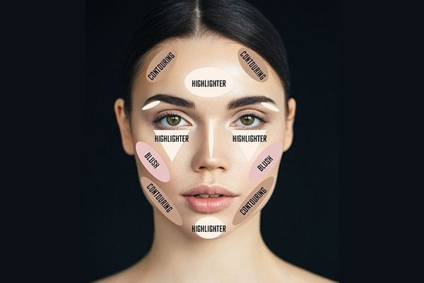 Blush, contour and highlight (BCH)