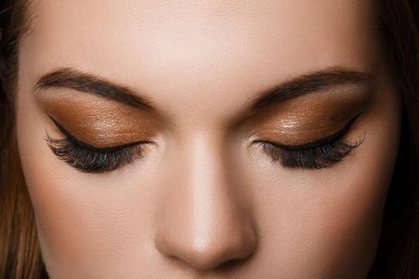 Go easy on the eyeshadow