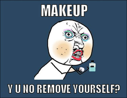 makeup remover funny meme 430x331