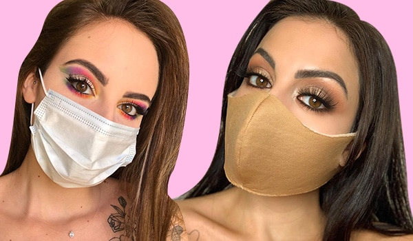 How to wear makeup with face mask