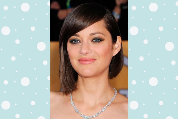Marion Cotillard In Poker Straight Hairstyle