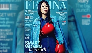 Magnificent Mary – the boxing legend stands strong on the cover of Femina