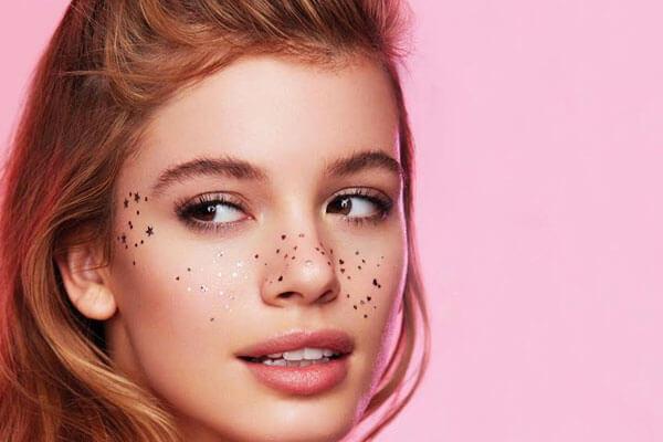 metallic freckle trend