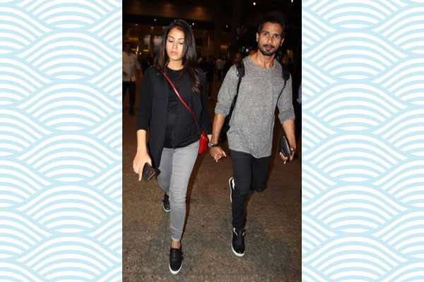 mira rajput kapoor in black outfit