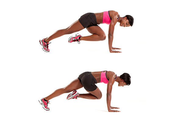 Mountain Climbers (2 sets, 15 reps)