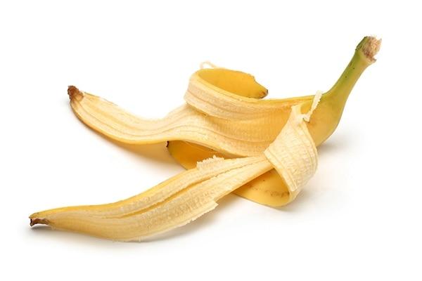 Banana peel for remove red spots on skin