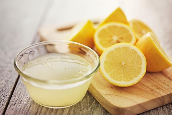 Lemon juice for remove red spots on skin