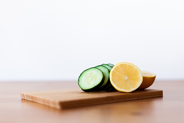 Cucumber and lemon for blemishes